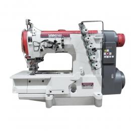Máquina de Costura Galoneira Plana Direct Drive 3 Agulhas 5 Fios Base Fechada W-7 DC/E Westman
