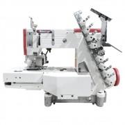 Máquina de Costura Industrial Elástiqueira Base Cilindrica 04 Agulhas 8 Fios Direct Drive W-4404P-FXDC