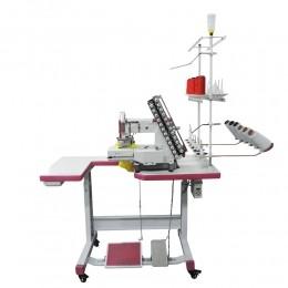 Máquina de Costura Industrial Elástiqueira Base Cilindrica 12 Agulhas 24 Fios Direct Drive W-4412P-FXDC