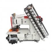 Máquina de Costura Industrial para Elastex Base Plana 12 Agulhas 24 Fios Direct Drive W-4412P