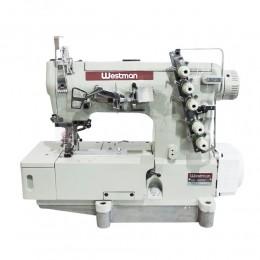 Máquina de Costura Industrial Galoneira Direct Drive Base Plana Fechada Com Refilador W-32500 DC-BT
