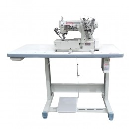 Máquina de Costura Industrial Galoneira Direct Drive Base Plana Fechada W-32500 DC