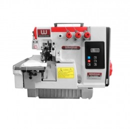 Máquina de Costura Interloque 2 Ag 5 Fios Direct Drive Semi Eletrônica W4-5DC/E