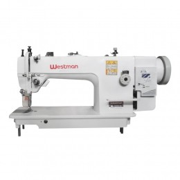 Máquina de Costura Reta Transporte Duplo Lançadeira Grande Direct Drive W-0302 DC/SU Westman