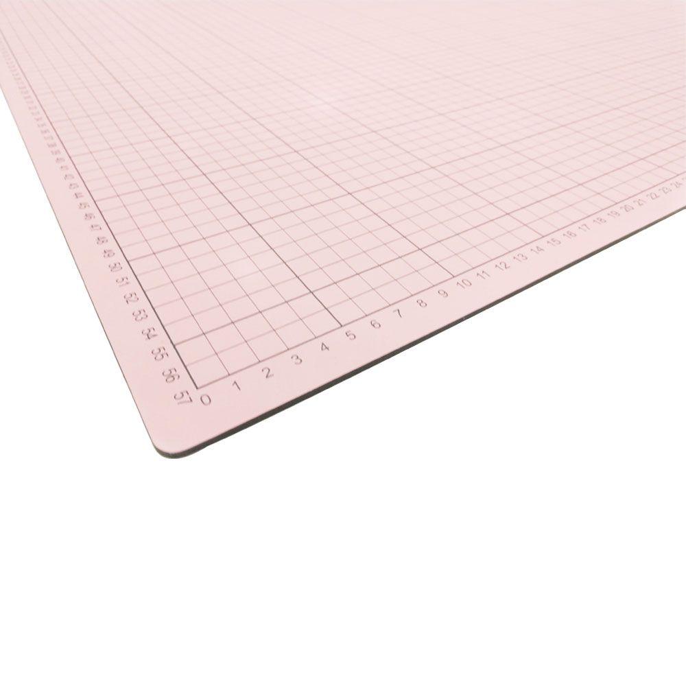 Base para Corte de Tecidos Patchwork e Scrapbook Frente e Verso Rosa