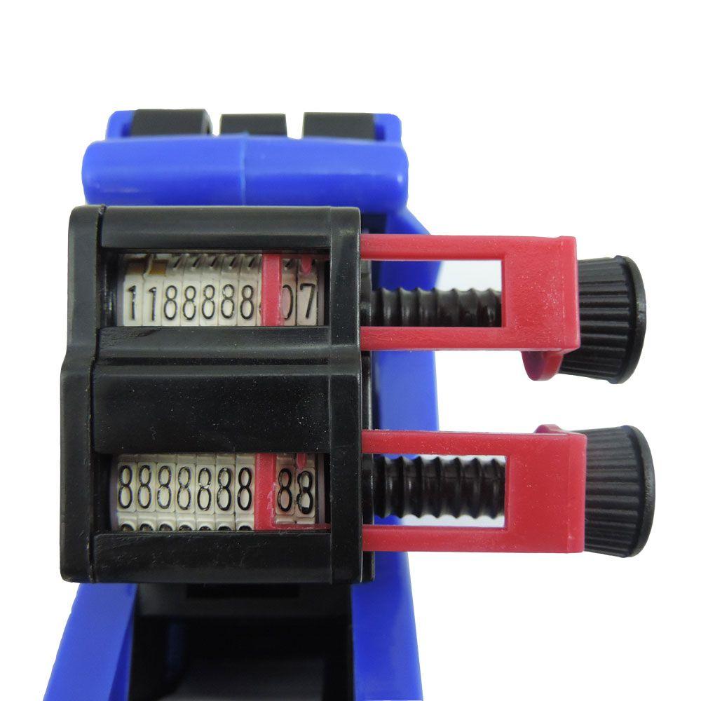 Etiquetadora de 2 linhas 10 dígitos ML-2316 com 10 Rolos de Etiquetas e 2 Tinteiros