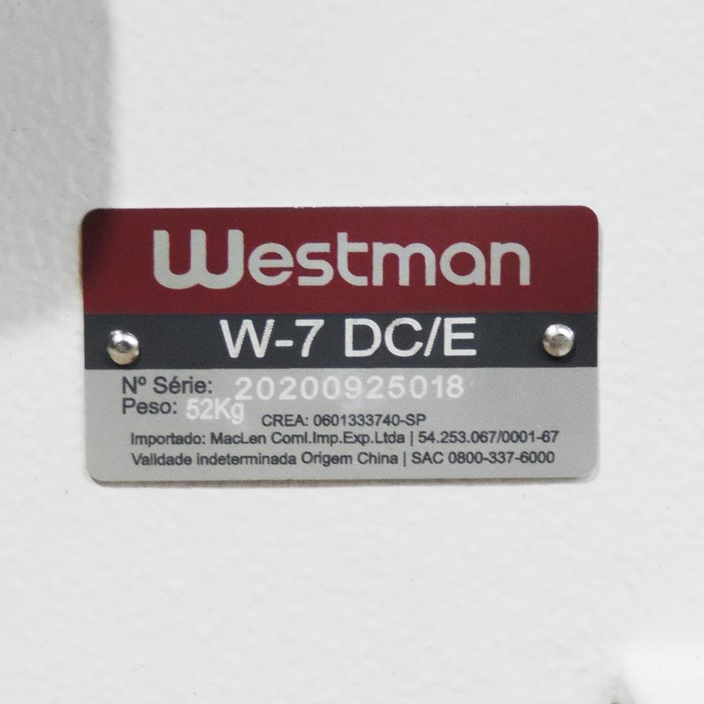 Galoneira Plana Direct Drive 3 Agulhas 5 Fios Base Fechada Westman W-7 DC/E