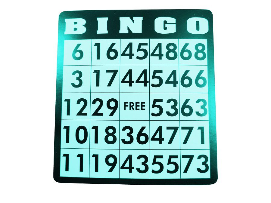 Jogo de Bingo com Fichas Tabuleiro Medida 9 Polegadas