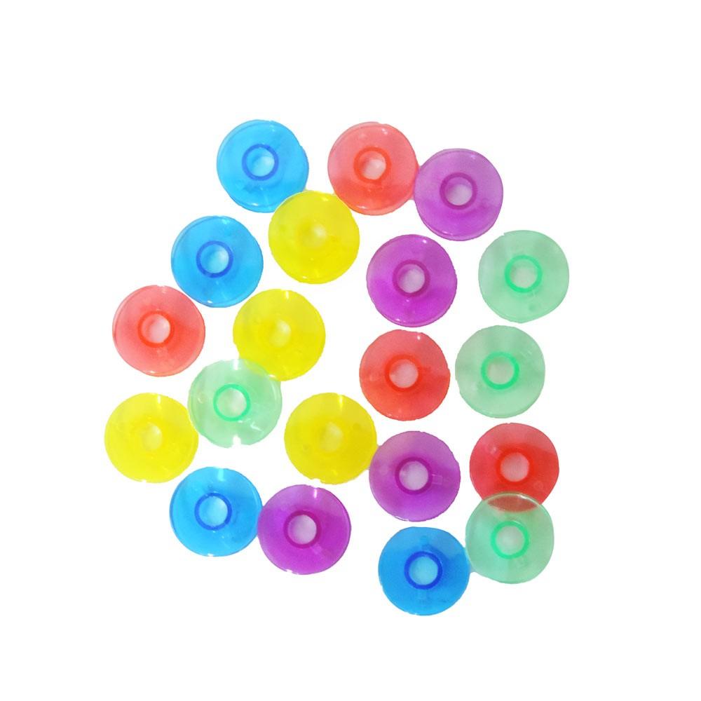 Kit de organizador de costura coruja com ventosa e bobina doméstica alta colorida  20 peças