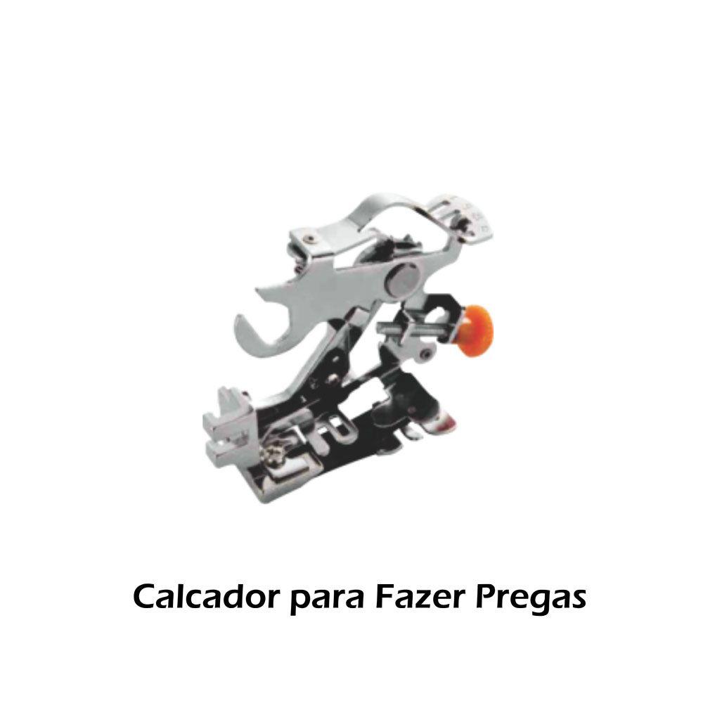 Kit de Pé Sapatas e Calcadores para Pregas Bordado Zig Zag Rolete 8 Peças
