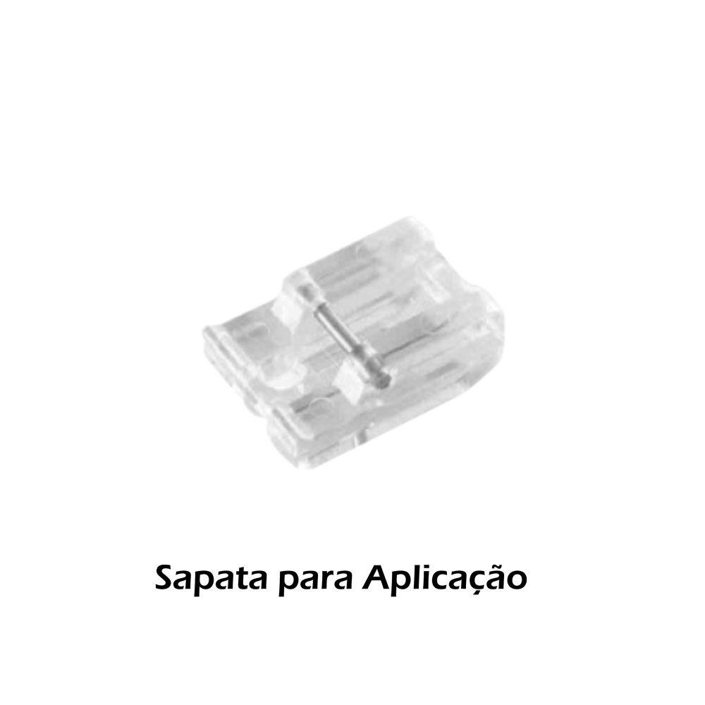 Kit de Pé Sapatas e Calcadores para Zig Zag Zíper Franzidor 15 Peças