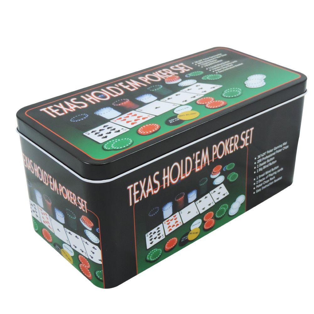 Kit de Poker com 200 Fichas Texas Hold'em
