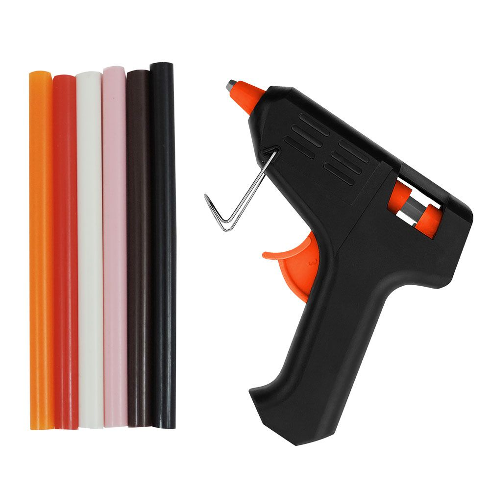 Kit Pistola e Bastão de Cola Quente Colorida