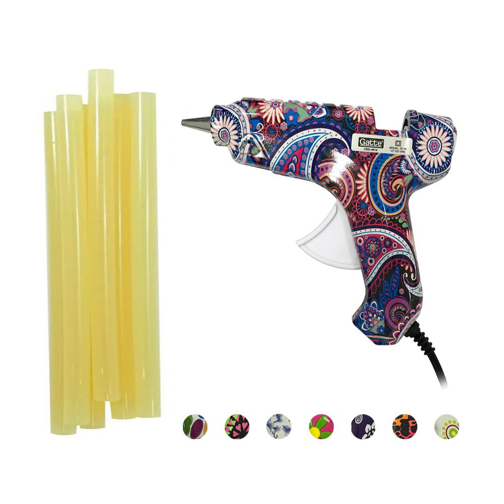 Kit Pistola Estampada  + Cola Quente Grossa