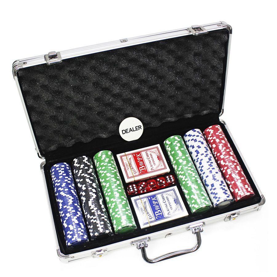 Maleta de Poker com 300 Fichas sem Numeração