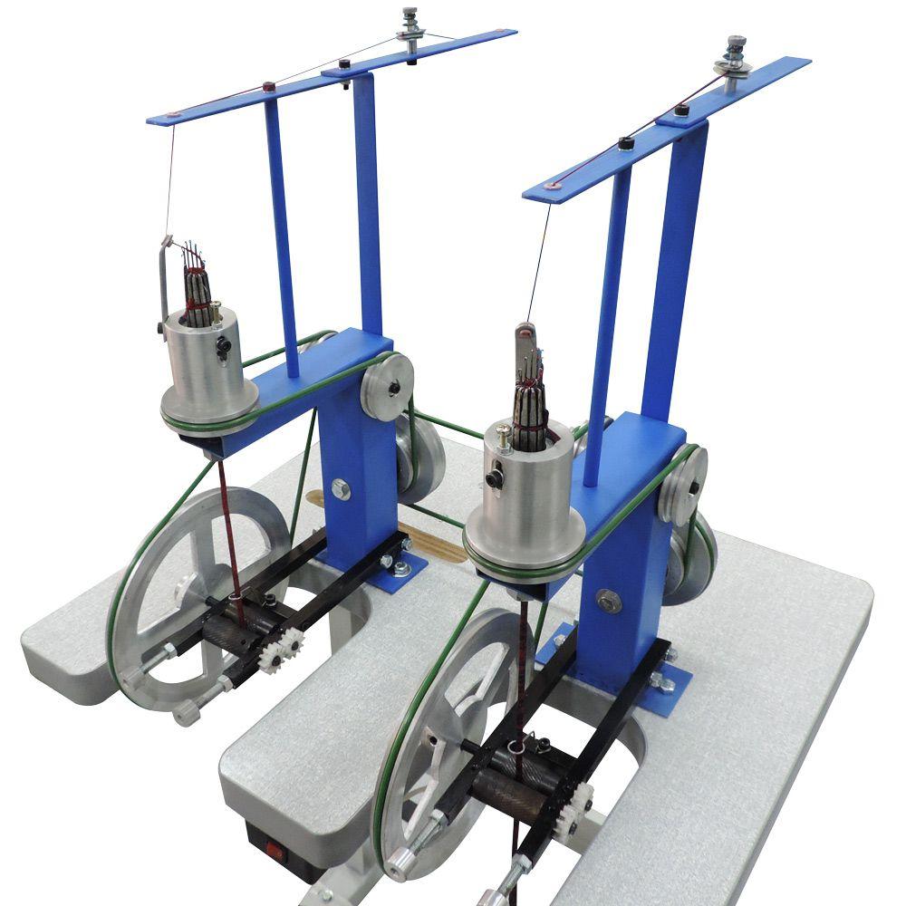 Máquina para Fazer Cordão 12 Agulhas e 2 Cabeças