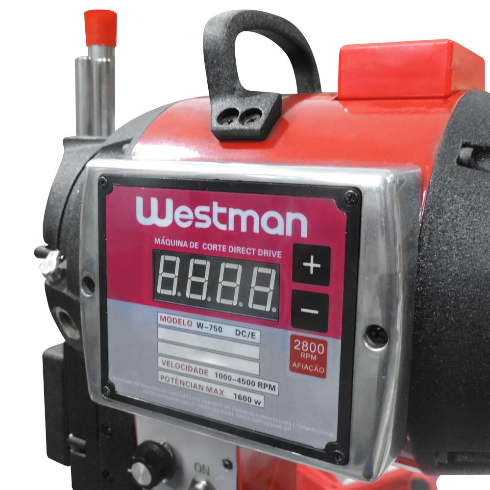Máquina de Corte com Faca de 10 Polegadas 750W com Regulagem de Velocidade Westman