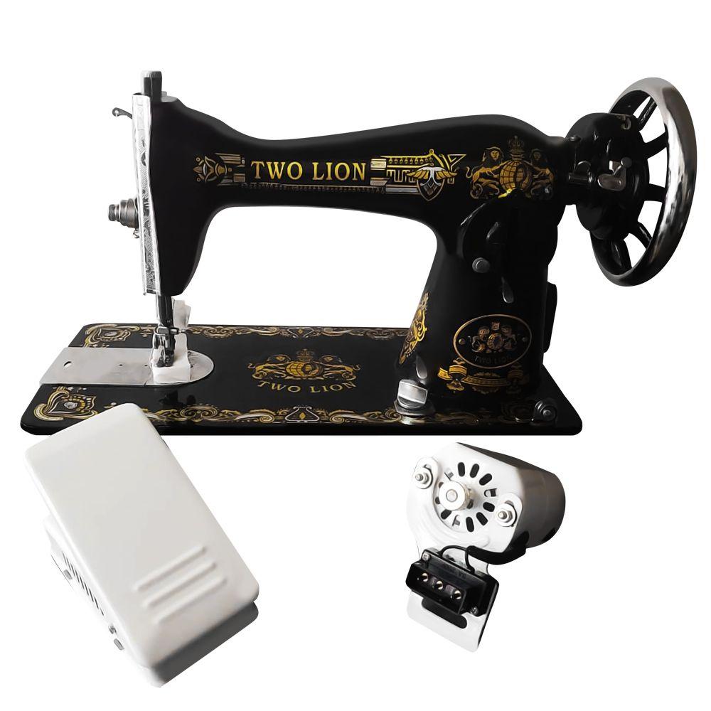 Máquina de Costura Doméstica JA2-02 Com Motor (Pretinha)