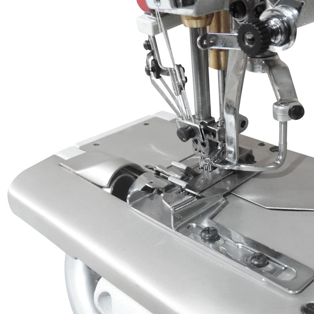 Máquina de Costura Galoneira Base Cilíndrica com Corte de Lina e Refilador W-33903 DC ALK/UTC
