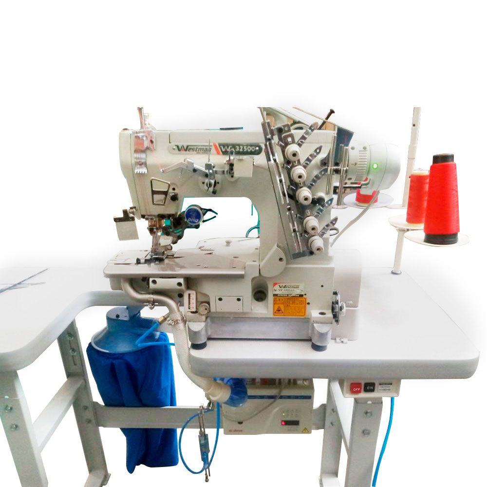 Máquina de Costura Galoneira Base Cilíndrica Eletrônica com Refilador W-33903 ALK/UTC