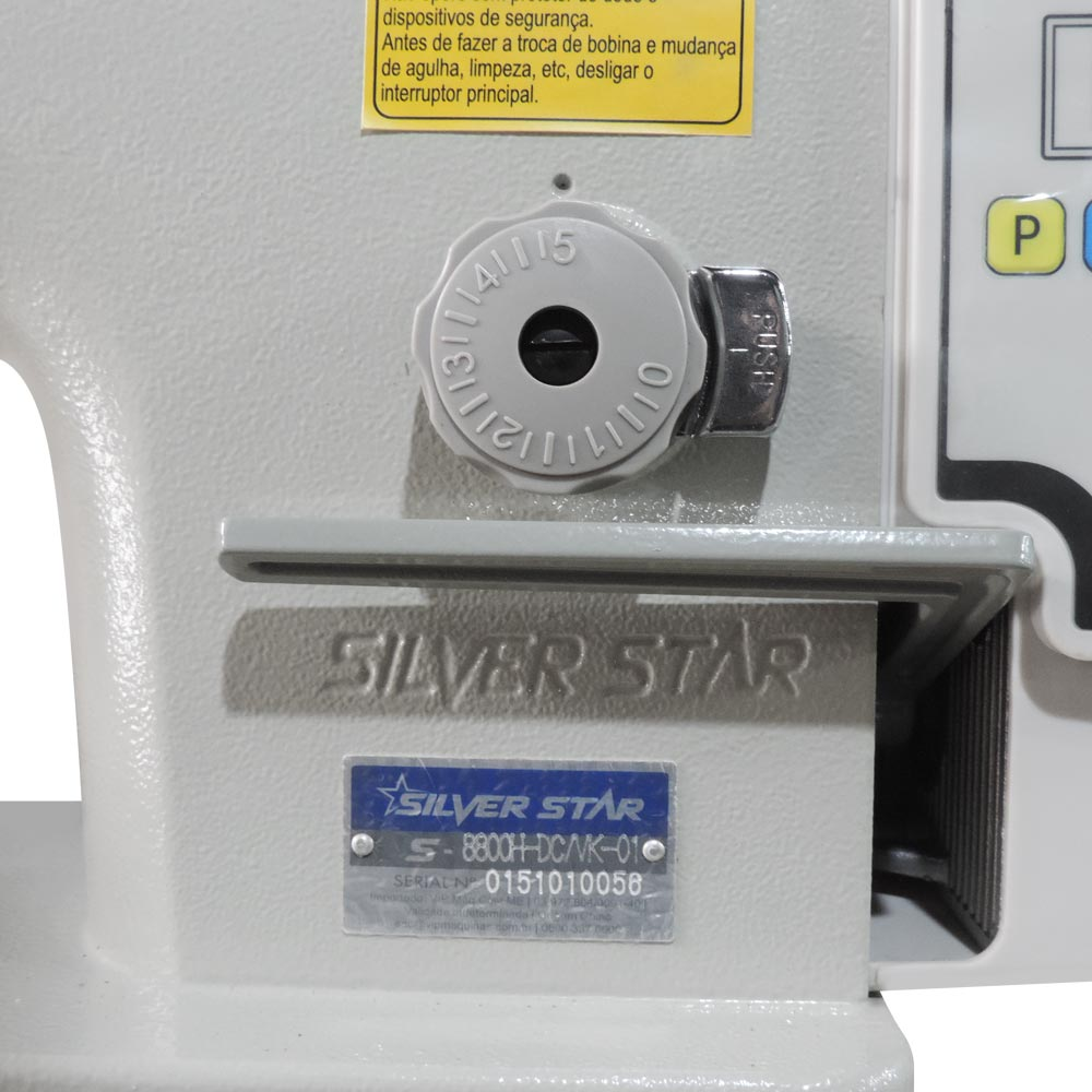 Máquina de Costura Industrial Reta Pesada Direct Drive S-8800H DC/VK Silverstar