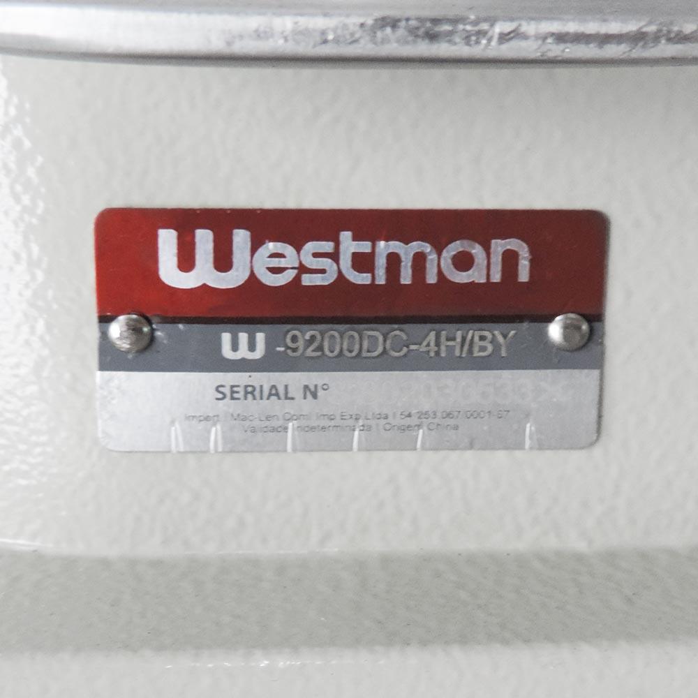 Máquina de Costura Industrial Reta Pesada Eletrônica Direct Drive 4 Funções W-9220 DC-4H/BY Westman