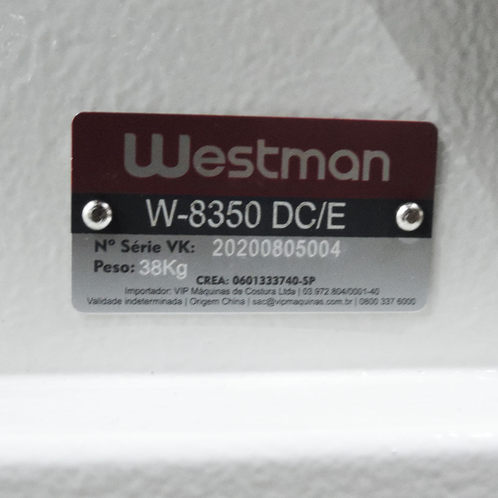 Máquina de Costura Industrial Reta Ponto Picado para Alinhavar  Direct Drive W-8350 DC/E Westman