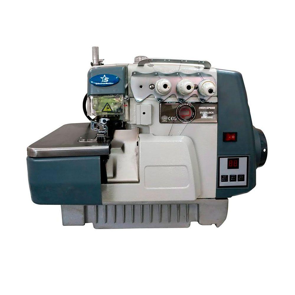 Máquina de Costura Interloque 2 Ag 5 Fios Direct Drive Semi Eletrônica S-858DC/MK