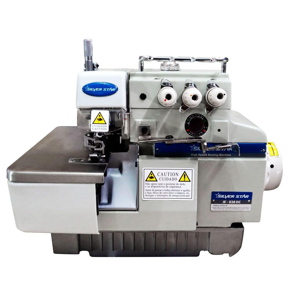 Máquina de Costura Overlock 3 Fios Direct Drive Semi Eletrônica S-838DC