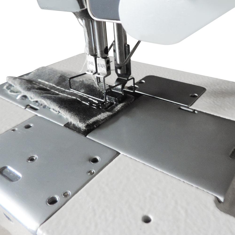 Máquina de Costura Pespontadeira 02 Agulhas Alternada Direct Drive Pesada W-2285DC4/E