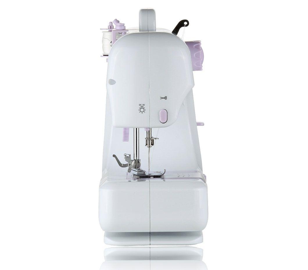 Máquina de Costura Portátil 12 Pontos para Tecidos Leves e Médios Bivolt