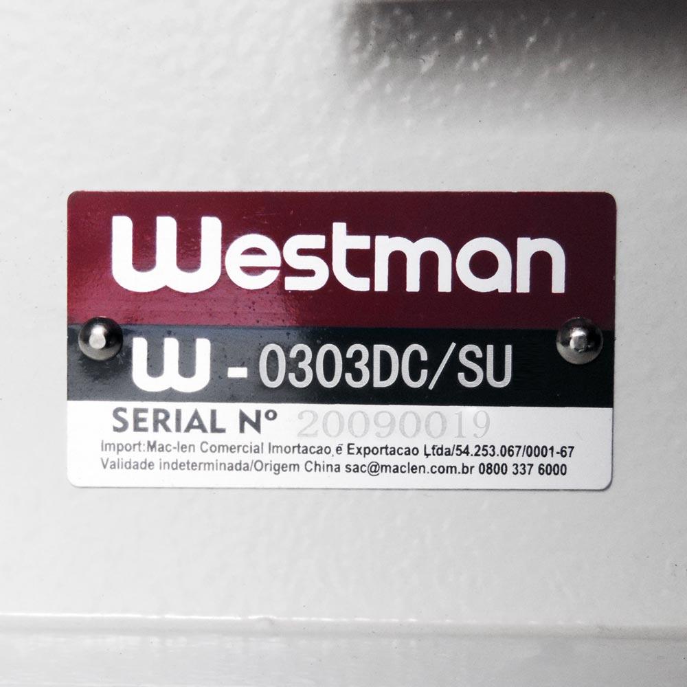 Máquina de Costura Reta Transporte Triplo Lançadeira Grande Direct Drive W-0303 DC/SU Westman