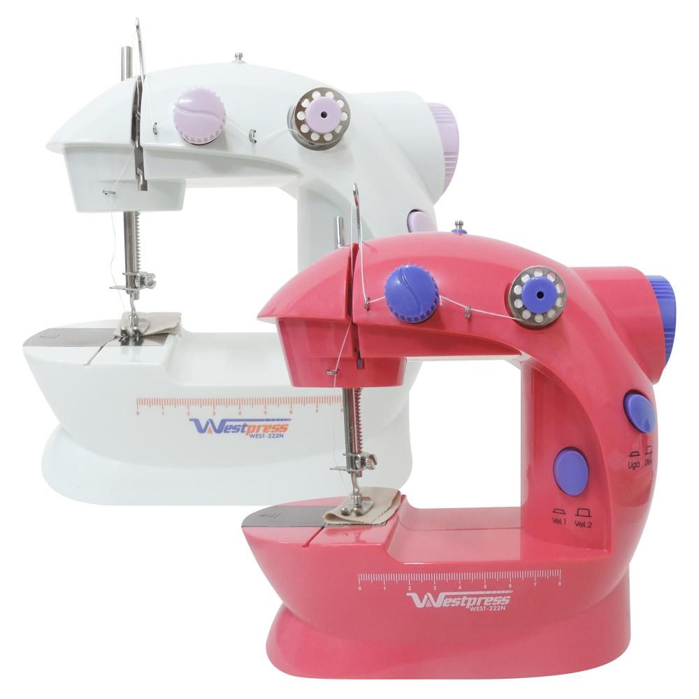 Mini Máquina de Costura para Reparos e Tecidos Leves West-222