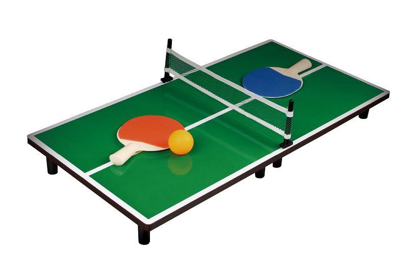 Mini Mesa de Ping-Pong 90X40 com Rede e Raquetes