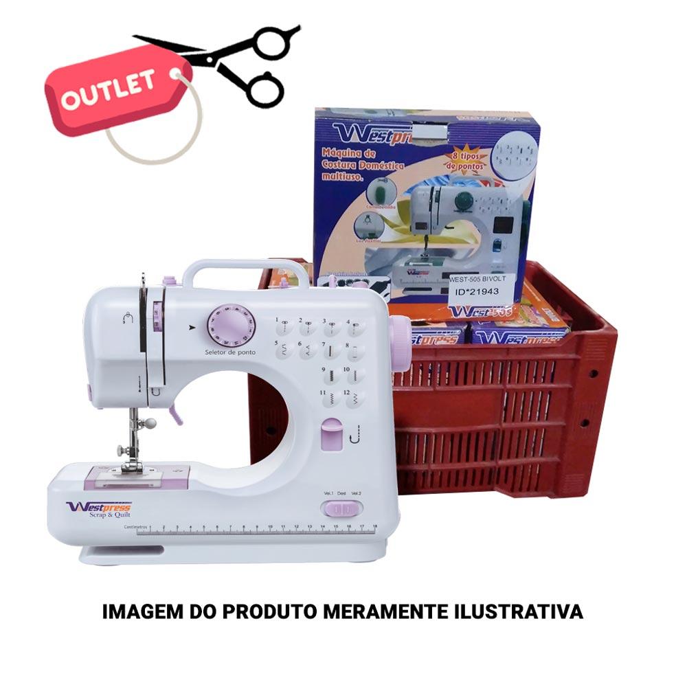 OUTLET - Máquina de Costura Portátil 12 Pontos para Tecidos Leves e Médios Bivolt