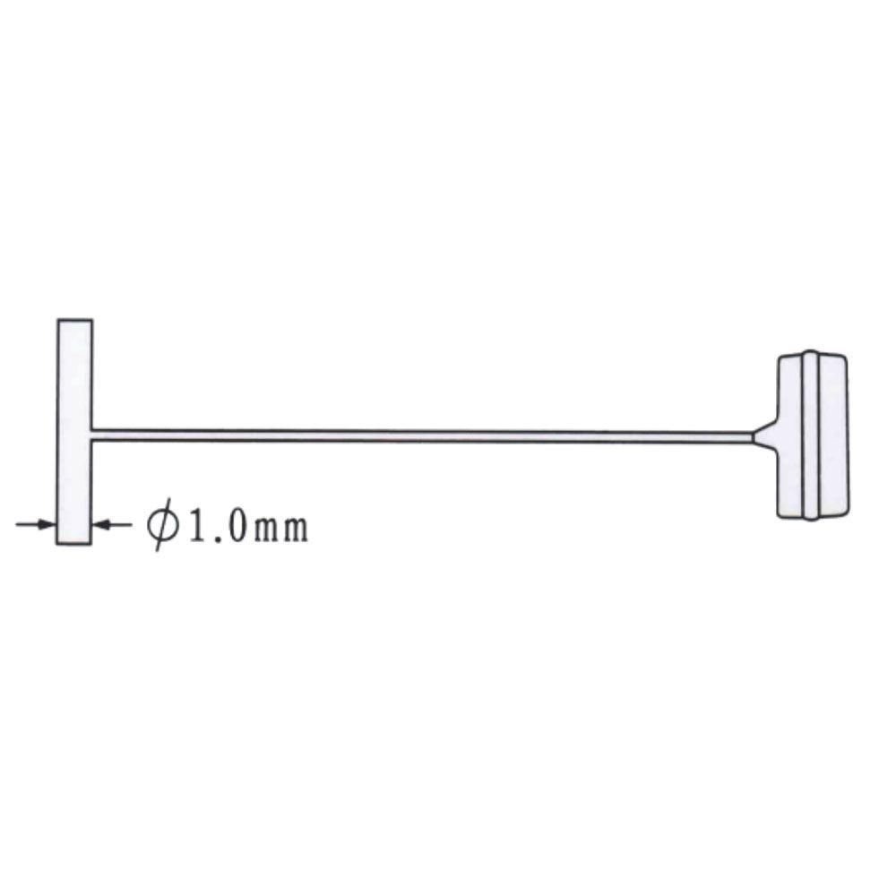 Pino para fixação de Tag Pin Retangular - 25 mm, 35 mm, 40 mm, 45 mm, 60 mm, 75 mm