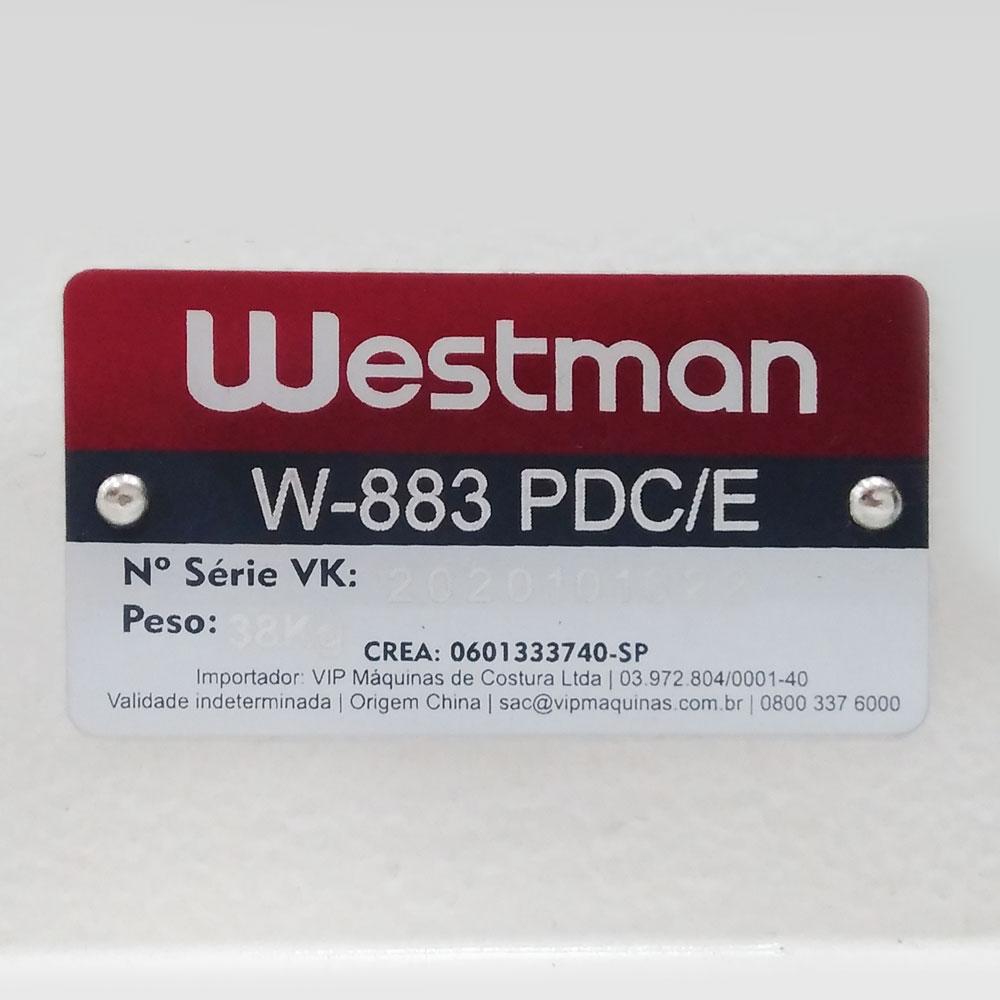 Ponto Corrente 3 Agulhas com Catraca W-883 PDC/E - Direct Drive - Westman