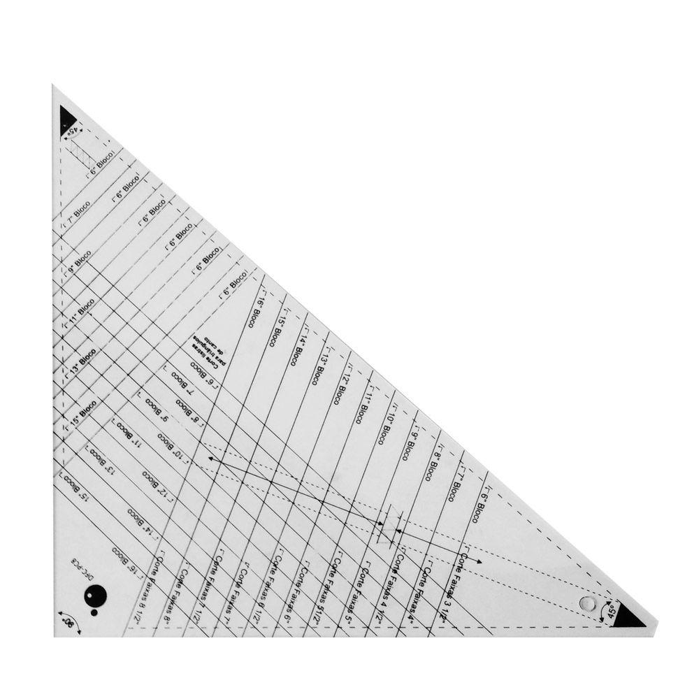 Régua Caleidoscópio Triangular 45°