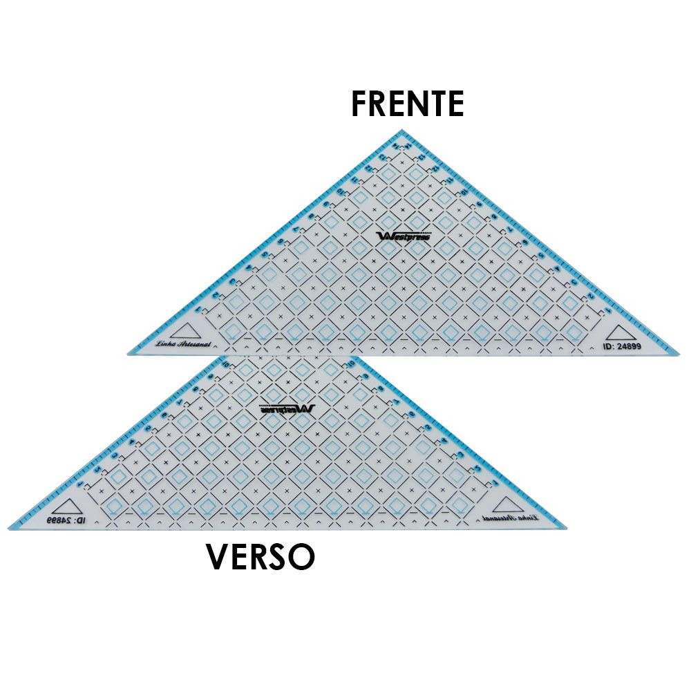 Régua Triangular para Patchwork