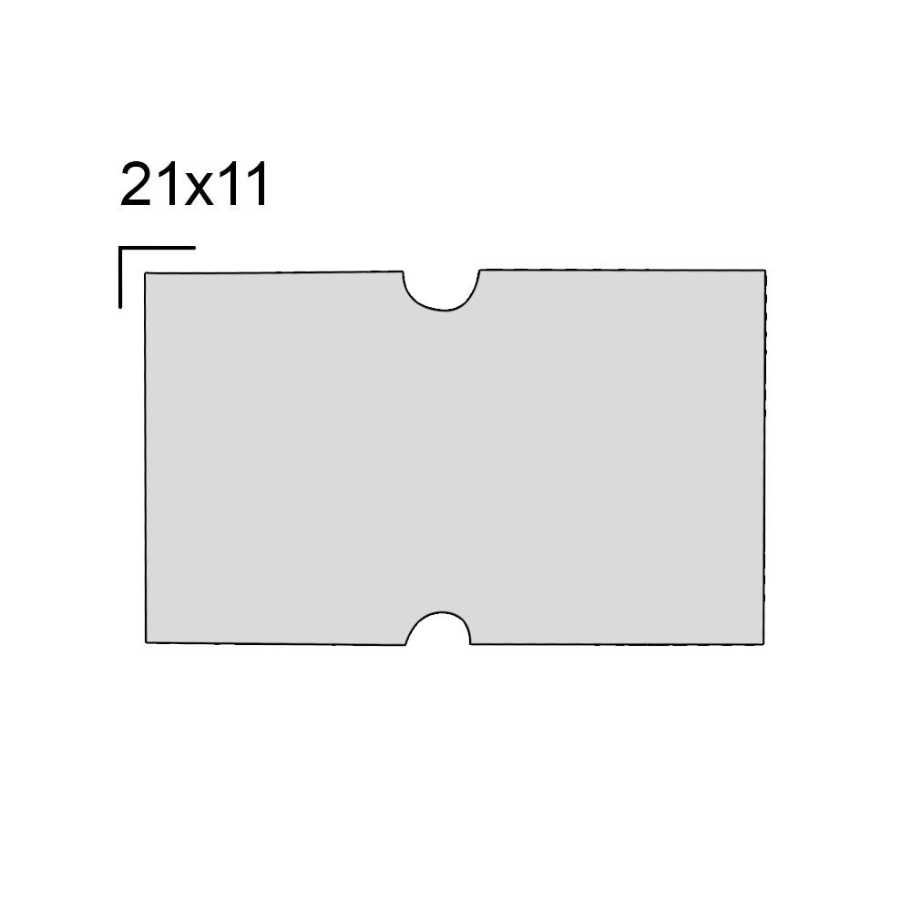 Rolo de Etiqueta para Etiquetadora com 10 Rolos  21x12 mm M-14