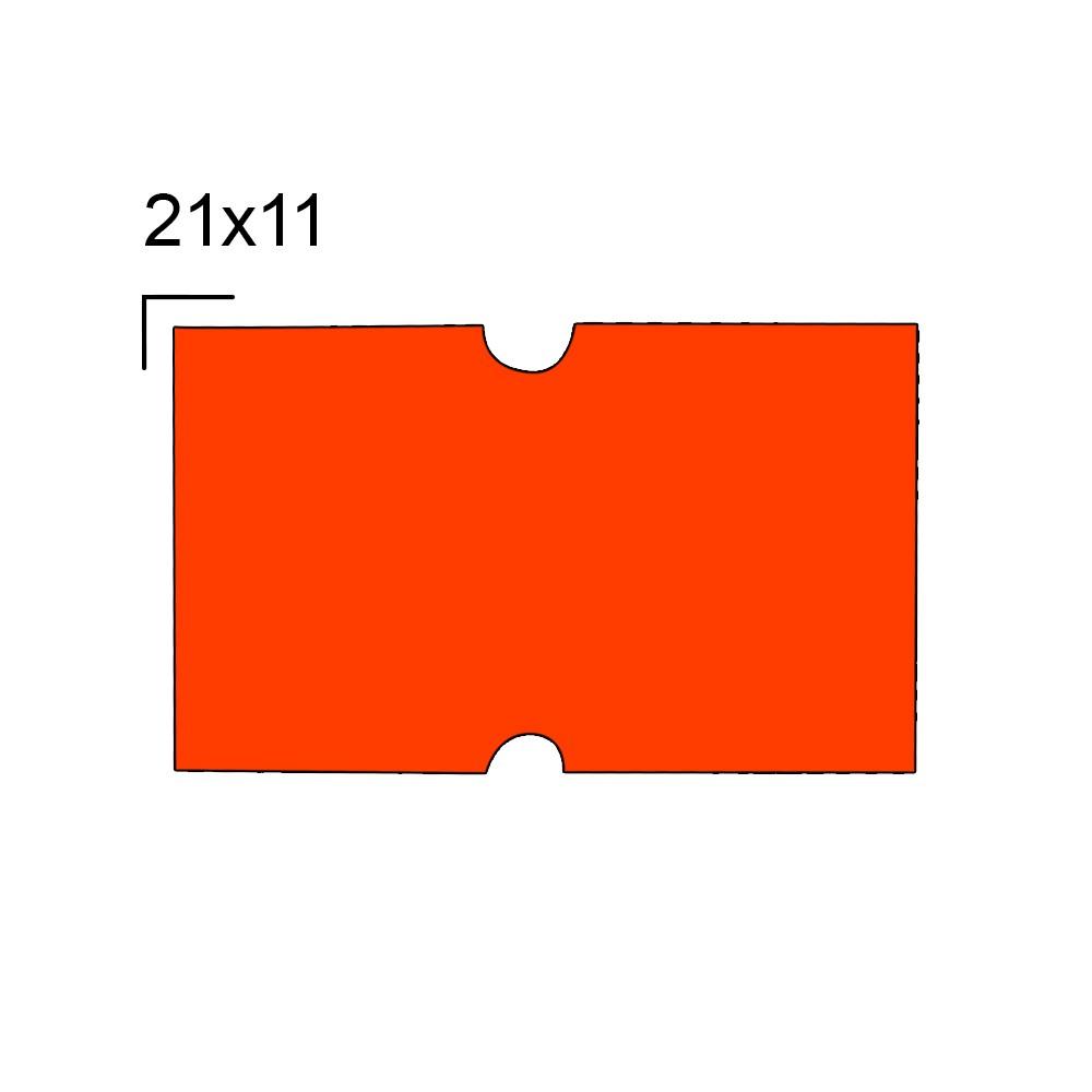 Rolo de Etiqueta para Etiquetadora com 10 Rolos  21x12 mm M-14 Laranja