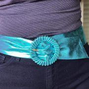 Cinto Zara Metalizado Azul