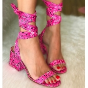Sandália Bandana Pink