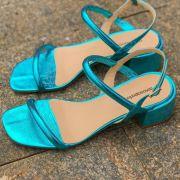 Sandália Chris Azul Turquesa