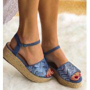 Sandália  Flatform Alice Azul