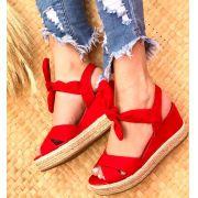 Sandália Lorena vermelho