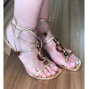 Sandália Pietra Dourada