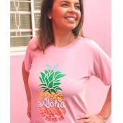 T-Shirt Aloha Rosa