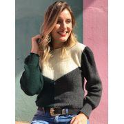 Tricot Kate Verde Escuro / Cinza