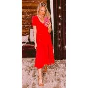 Vestido Jaque Vermelho
